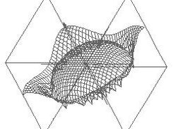 Wireframe model of an explicit surface created by jvisual3d