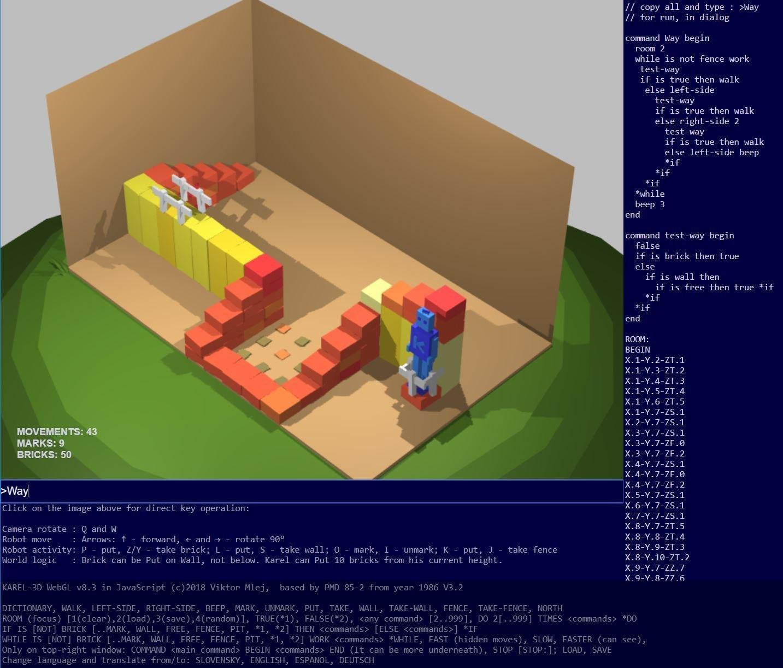 KAREL 3D WebGL download | SourceForge net