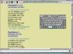 The dillo web browser and the virtual keyboard.
