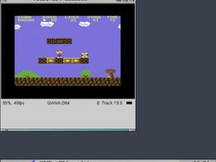 Playing gianna sisters (C64 emulator).