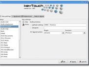 The main window of keyTouch 2.0