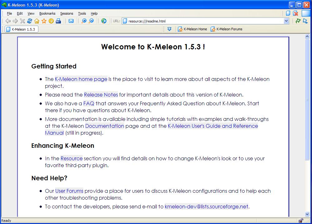 le navigateur k-meleon