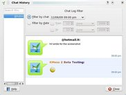 Chat logs history dialog