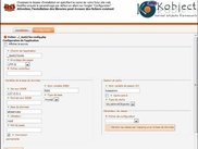 Kobject configuration site interface