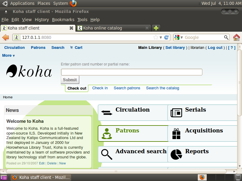 koha library software for windows free download