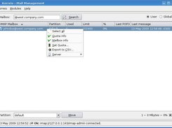 Imap Partition management