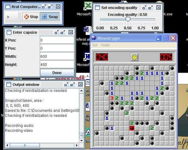 Making A Movie Of Minesweeper Using The Old Interface