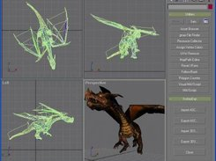 "Fire dragon with ""show map in viewport"" property enabled"