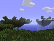 Floating islands generated by the Sky Islands Generator.
