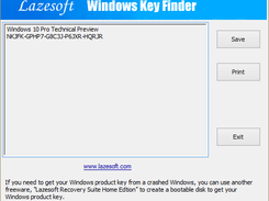 Lazesoft Windows Key Finder download | SourceForge net