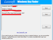 Lazesoft Windows Key Finder Ver 1.7