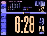 Alarm-clock screen with NEM color scheme selected