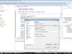 Eclipse IDE with the leJOS plugin settings