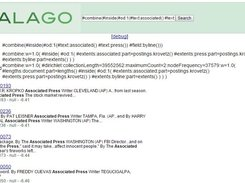 Simple galago search UI
