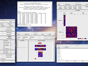 LensOSX - Main window, Console, Unit viewer, Link viewer, and Graph window