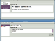 Server and client test applications running on Ubuntu 12.10 64-bit