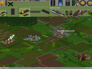 OpenTTD with mouse emulation and magnifying glass