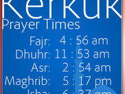 Kerkuk Prayer Times - Linux