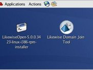Likewise Installer and Domain Join Tool on a Red Hat Desktop