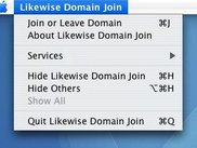 Likewise Open Domain Join Menu on Mac OS X