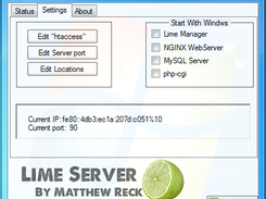 Server Settings - Lime Control Panel