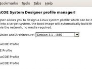 2. LinuxCOE SystemDesigner profile manager