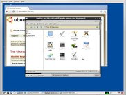 Shows user controlling the installed system with the CD