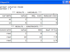 Linear Program Solver download | SourceForge net