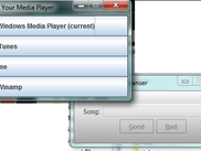 The media player selection screen. Just click your favorite one and Llama Music Cleanser will use it to help you clean out your music folder