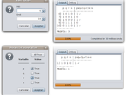 Rank values for processing a logic formula (top). Process only one interpretation (bottom)