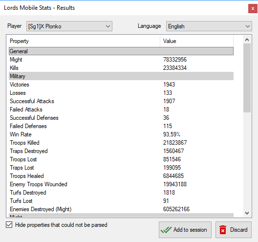 Lords Mobile Player Statistics download | SourceForge net
