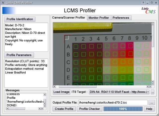 LProf open source ICC profiler download   SourceForge net