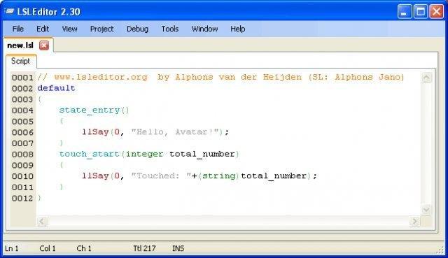 LSL Editor Community Edition download   SourceForge net