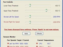 Lubbo's Fan Control ver. 0.1.3 - Change settings