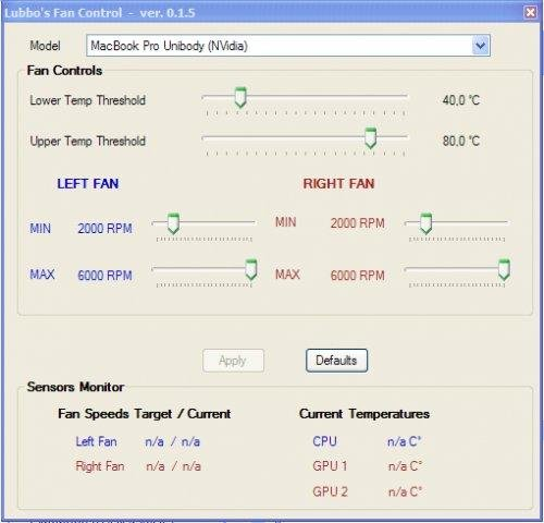 Lubbo's Fan Control for Windows 7 - A system tool for you to
