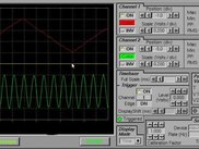 Lxardoscope displaying 370Hz sine and 37Hz triangular wave