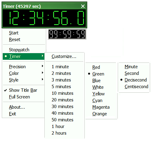 LYZ Freeware (Stopwatch & Timer) download | SourceForge net