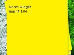 The notes widget. write anything and it will save it automatically.