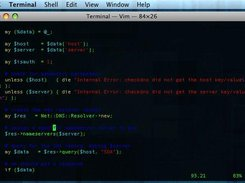Vim within a Terminal showing perl source code