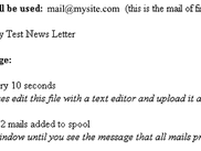 Mail Send Addon for Drupal and Simplenews Newsletter Module - first screen