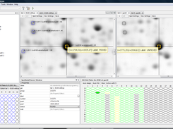 Proteus with linked gel views, showing picking status and possible identifications for selected spots.