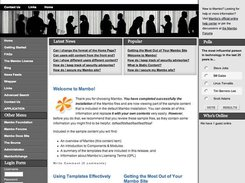 Home Page of the Default Template in current version.