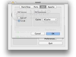 MAMP - Preferences - PHP