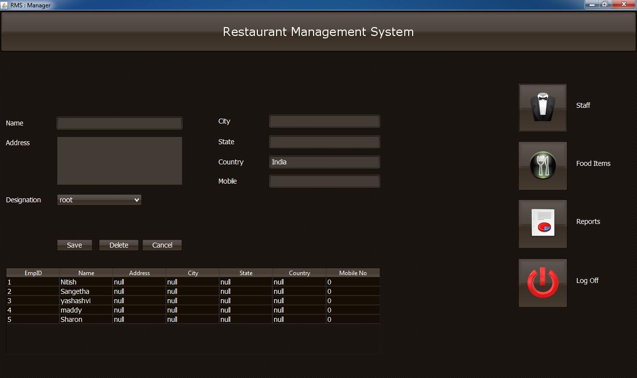 Restaurant Management System ( RMS ) download | SourceForge net