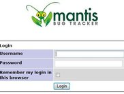 MantisBT Login Screen