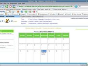 Calendar page from Firefox 1.5 on Suse 10 OSS