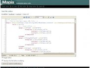 Mapix CMS online text editor (uses Edit_Area)
