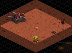 A NGG medium mech founds a SWA fortress and an enemy mech.
