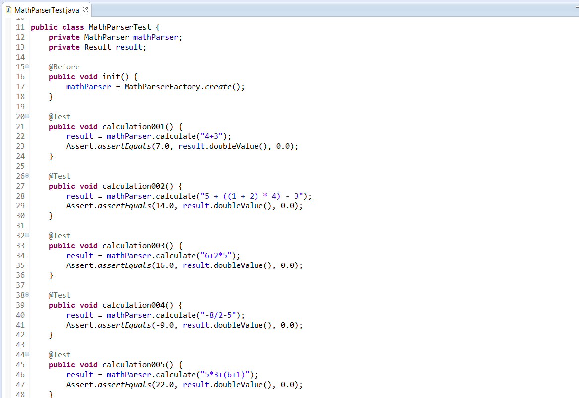 source code parser java