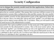 Security Setup Screen